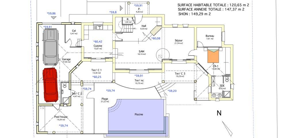 Maison u philippe bonnevide architecte dplg for Maison en u plan